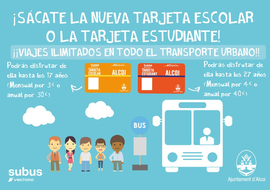 Bonos transporte bus Alcoi