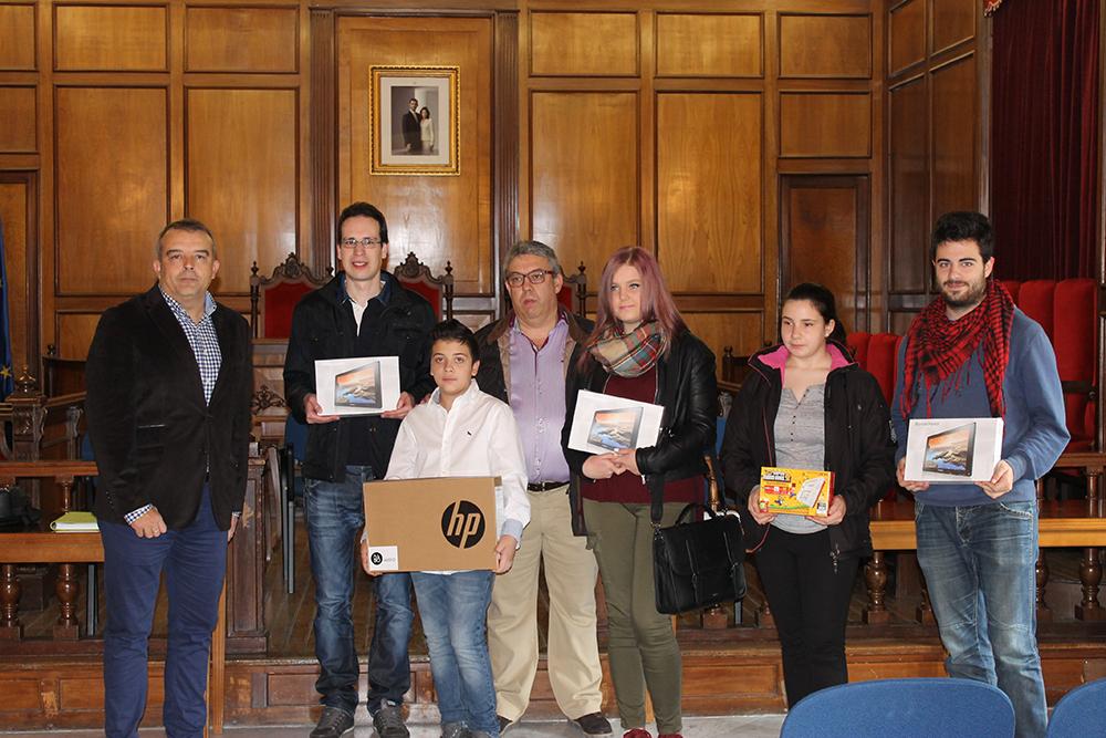 Entrega de los premios de la Maratón de Viajes del autobús urbano en Alcoi